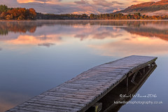Menteith Jetty (2) (Shuggie!!) Tags: autumn clouds dawn hdr hills jetties lakeofmenteith landscape mistandfog morninglight mountains reflections scotland snow sunrise trees trossachs water zenfolio karl williams karlwilliams