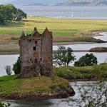 Castle Stalker (XIVe), Loch Laich,  Argyll and Bute, Ecosse, Royaume-Uni. thumbnail