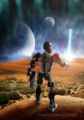 Unknown World (Mars Mann) Tags: legophotography finn toyphotography starwars planet postprocessing moon photoshop poster creativephotography light space digitalart skyline landscape jedi warrior marsmanncreations blackcharacter composition lightsaber