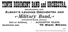 1896 Tenth Regiment Band (albany group archive) Tags: albany ny history vintage 1896 tenth regiment band military augustus elgie state street old historic historical photos