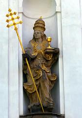 P1400298 kościół klasztorny, Broumov. Czechia (stapaw) Tags: královéhradecký kraj kościół kostel church rzeźba sculpture