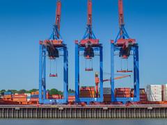 Hamburg Hafen Kräne