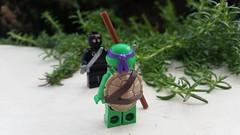 Donatello Vs Foot Soldier (Brett-Tron) Tags: sblugau brickstameet brickstameetadel lego tmnt turtle ninja retro donatello