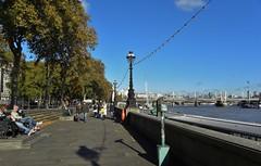 The Victoria Embankment London. (Eddie Crutchley) Tags: europe england london outdoor sunlight blueskies river riverthames victoriaembankment simplysuperb