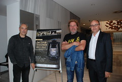 El equipo de sonido del documental, Pepe Camacho y Pepe Rodríguez, con Diego García. (almeriainformacion) Tags: cine documental la fosa borrada del sur memoria histórica almería museo de