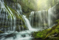 A Veil of Fluidity (Gary Randall) Tags: gar71692 washington waterfall panthercreek pacificnorthwest creek landscape