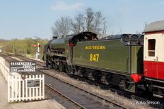 SR S15 847 20170407 SheffieldPark, BluebellRailway (steam60163) Tags: s15 southernrailway sheffieldpark bluebellrailway