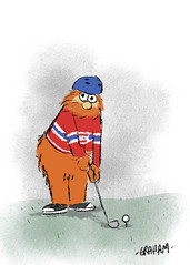 Youppi (Grickle) Tags: grickle request doodle twitter montreal canadiens youppi mascot golf hockey