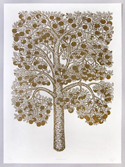 """""""GOLDEN APPLE TREE"""" Woodcut Print by Tugboat Printshop (Tugboat Printshop) Tags: tugboat printshop"""