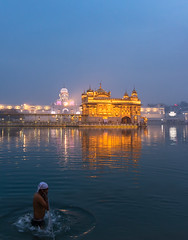 Early Morning Prayers (Ashmalikphotography) Tags: bluehour bluesky earlymorning prayers religion humanity sikhism goldentemple travelphotography lovefortravel mycreator amritsar punjabiyat punjab people devotion