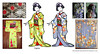 Japan - Maiko Kitsuke (Kurokami) Tags: toronto ontario canada kimono japan japanese asia asian woman women girl girls lady ladies kitsuke anime north fashion show 2017 traditional maiko geiko geisha hikizuri susohiki fudouchou aoimoto chrysanthemum kiku darari obi kikyou bell flower tsumami kanzashi hair ornament ornaments fold folded flowers floral green blue