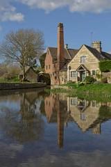 Lower Slaughter (Jon Jones 1666) Tags: mill slaughter gloucestershire landscape reflextion water buildings chimney
