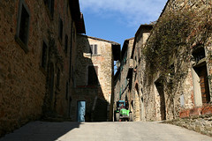 Volpaia...where time seems stopped! (LaDani74) Tags: tuscany village alley stone volpaia siena chianti countryside italy rural borgo medieval tractor man work house architecture ancient