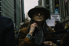 Downtown Woman (reinfected) Tags: tax march taxmarch donald trump protest protesters politics politic usa united states nyc manhattan new york city metropolis metro street candid streets people person