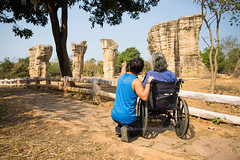 Wheelchair Travel - Mo Hin Khao (Chaiyaphum) (baddoguy) Tags: 7079years activeseniors adult adultoffspring adultsonly affectionate agingprocess armsoutstretched athlete beautyinnature bonding cheerful colorimage couplerelationship differingabilities disabledaccess familywithonechild famousplace father fulllength happiness healthcareandmedicine horizontal leisureactivity lifestyles looking lookingatview loveemotion males matureadult men mother pants paraplegic people photography physicalimpairment rearview recreationalpursuit rockobject rockformation senioradult sitting sky son southeastasianethnicity sportsperson stoneobject summer sunny tanktop thailand togetherness tourism tourist travel traveldestinations treetrunk twogenerationfamily twopeople vacations weekendactivities wellbeing wheelchair women