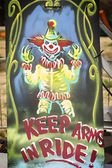 Keep those arms in! (justintfirefly) Tags: mad monster party convention scares that care south carolina rock hill scary nerd geek con carnival clown evil spirit devil satan tattoo festival