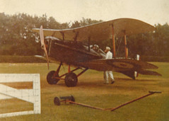 Back to the beginning... (Treflyn) Tags: grainy fuzzy blotchy scan print shuittleworth collection royal aircraft factory se5a replica first aviation photograph fixed focus 110 cartridge film camera 1981