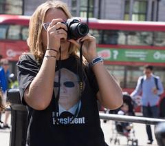 Mr President (cuppyuppycake) Tags: mr president putin london tourist trafalgar square taking pics