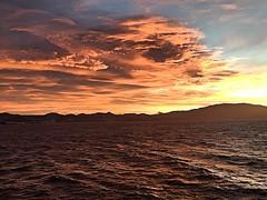 In the North Atlantic Explore 287 (green-dinosaur) Tags: explore azores clouds orange dramatic mountain sea sky storm atlanticocean sunrise suefagg