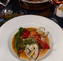 second course I (Just Back) Tags: middlins rice sauce clams sc crawfish seafood stew catfish fish sausage lemon greens vegetables spoon delicious columbia farmtotable cityroots broth tomato color red green hot mollusc arthropod invertebrate chitin joints protein meat bowl fresh carolina jamesbeard surf savory spicy bivalve salt pepper juice