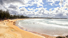 63+447: Let the sunshine in (geemuses) Tags: manly nsw australia manlybeach sea sand surf waves water ocean landscape scenic scenery rocks cliffs view clouds sun cliff nature northernbeaches natural autumn