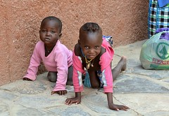 Himba kids wait outside a local towns supermarket in Kaokoland, Namibia. (One more shot Rog) Tags: herero himba damara namibia tribal tribe tribes dress hererowoman hereropeople safari traditions traditionaldress onemoreshotrog rogersargentwildlifephotography africa africantribes