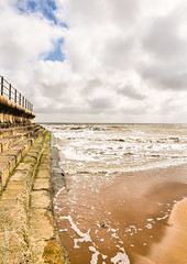 Tide coming in at Dumpton Gap (philbarnes4) Tags: tide dumpton gap sand sea water wave coast ramsgate thanet kent england sky cloud broadstairs
