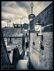 Steps to Little Underbank, Stockport. (stoneblower213) Tags: england stockport konicaminoltaaf1735mmf284 minolta1735 city sony structures locations lightroomcc monochrome mono buildings sonyilce7rm2 tallbuildings photoediting sonya7rii bw littleunderbank places ilce7rm2