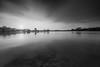 Flow (My Pixel Magic) Tags: long exposure blackandwhite monochrome landscape waterscape rocks reservoir movingclouds