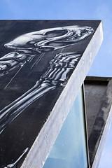 Tératogénie (Gerard Hermand) Tags: 1704107434 gerardhermand france paris canon eos5dmarkii formatportrait street art streetart animal squelette skeleton béton concrete mur wall peinture paint ciel sky