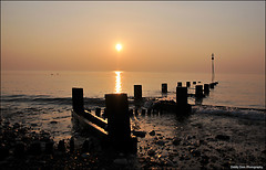Hunstanton Sunset. (markself396) Tags: sunset groynes beach hunstanton seafront water norfolk
