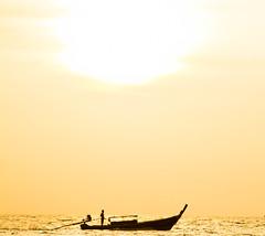 go to work in the morning (Franciscomateoo) Tags: tailand kohlipe lipeisland sunrise boat canon7d 24105l beach tailandia mar sea traveling travelword