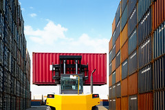 Warehouse (Patrick Foto ;)) Tags: action blur box business cardboard cargo color container crate delivering distribution driver driving equipment export factory fork forklift freight green heavy industrial industry lift lifting loading machine motion movement moving operator orange pallet person port rack ship shipping stack stacking steel storage store transport transportation truck vehicle warehouse worker working laemchabang changwatchonburi thailand th