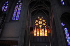 Amber Windows (JB by the Sea) Tags: sanfrancisco california april2017 urban nobhill gracecathedral church gothic frenchgothic