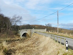 Old Stone Bridge, Gartly, Aberdeenshire. March 2017 (allanmaciver) Tags: old stone bridge water bogie gartly aberdeenshire military road sturdy class style narrow humped telegraph pole allanmaciver