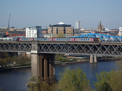 Cross country Voyager crosses the Tyne. (mk3seh) Tags: crosscountry voyager train newcastle upon tyne river bridge