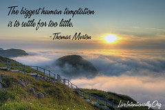 quote-liveintentionally-the-biggest-human-temptation-is (non square) (pdstein007) Tags: quote inspiration inspirationalquote liveintentionally carpediem