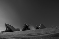 DSC00230 (Damir Govorcin Photography) Tags: sydney opera house pov steps blackwhite monochrome sky architecture iconic perspective creative composition sony a7rii zeiss 1635mm