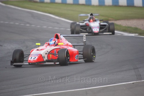 Ayrton Simmons in British F4 Race Two during the BTCC Weekend at Donington Park 2017