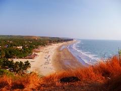 Arambol Beach (Thorong La) Tags: beach sand water sea india goa arambol palm hut boat coast