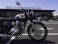 ace cafe barcelona (michele franzese) Tags: acecafebarcelona moto acecafe motorbike kawasaki kawasakiw800 w800 lumix lumixg lumixgh5 gh5 panasoniclumix