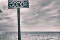 Law & Order (johann walter bantz) Tags: artphotography artofvisual creative 23mm xpro2 fujifilm plage france artistic minimal modernart modern panneaux sky clouds see mer