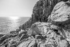 Kullen (Raphs) Tags: sweden kullen kullaberg skåne granite rocks cliff balticsea östersjön sea ocean water reflection light blackandwhite monochrome raphs canoneos70d canonefs1018mmf4556isstm sverige steep sunlight bluff bright