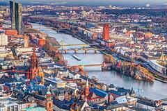 River Main, Frankfurt (creati.vince) Tags: aerial architecture cityscape creativince frankfurt germany maintower mainhattan skyscraper bridges mainriver