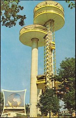 """New York State Exhibit"" at the 1964 New York World's Fair. Postcard DT-88526-B by Dexter, (1964) (lhboudreau) Tags: postcard fair worldsfair newyorkworldsfair exhibition 1964 1964worldsfair 1964newyorkworldsfair internationalexhibition newyork outdoor outdoors fairgrounds vintagepostcard architecture tower observationtower rotunda circulartheater circulartheatre theater theatre newyorkstateexhibit postcards ny nystateexhibit newyorkstatepavilion observation towers elevator unisphere"