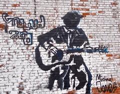 Ground Zero Blues Club in Clarksdale .... Watch: (Shein Die) Tags: gzbc groundzerobluesclub mississippi music bbq blackandwhite bw juke brick blackwhite grafitti street
