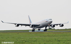 french air force a340-200 f-raja training at shannon today 4/5/17. (FQ350BB (brian buckley)) Tags: frenchairforce a340200 einn training fraja