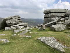 Combestone Tor, Dartmoor (Dave_S.) Tags: combestonetor dartmoor iphone se spring devon england uk gb united kingdom great britain unusual formation glaciation erosion geology myth legend pixies piskies mythology rock rocks wall ruins stonework landscape mountain