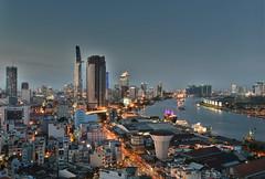 saigon sunset (Greg Rohan) Tags: vietnam nightlights highrise city hochiminhcity skyscraper buildings cityscape🌃 nightphotography photography 2017 d7200 skyline sky