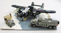 P-61 'Black Widow' diorama (1) (Mad physicist) Tags: fighter lego wwii blackwidow diorama usaaf p61 nightfighter